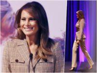 First Lady Melania Trump mixed masculine and feminine aesthetics as …