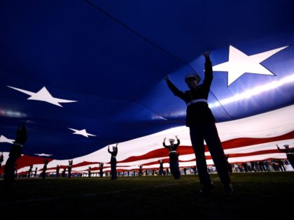 Marines American flag (Donald Miralle / Getty)
