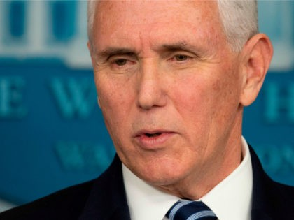 US Vice President Mike Pence speaks during the daily briefing on the novel coronavirus, COVID-19, at the White House on March 21, 2020, in Washington, DC. - Pence says he and wife are to be tested for coronavirus after staffer infected. (Photo by JIM WATSON / AFP) (Photo by JIM …