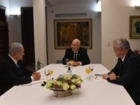 Netanyahu Rivlin Gantz (Koby Gideon, GPO)