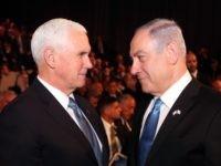 Pence and Netanyahu (Pool / Getty)
