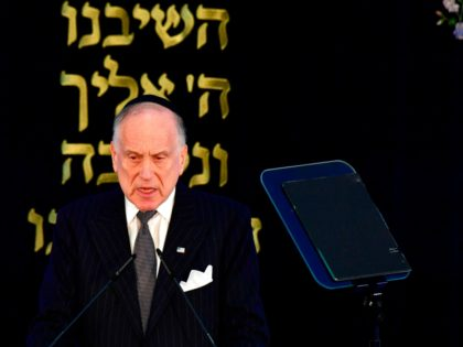 President of the World Jewish Congress Ronald Lauder gives a speech during a solemn ordination ceremony of three rabbis and three cantors at the Bet Zion synagogue in Berlin on October 8, 2018. (Photo by Tobias SCHWARZ / AFP) (Photo credit should read TOBIAS SCHWARZ/AFP via Getty Images)