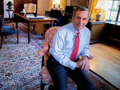 Harvard President Larry Bacow.