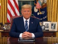 Donald Trump during 3/11/2020 Oval Office address