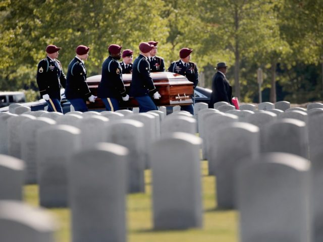 ELWOOD, ILLINOIS - AUGUST 13: The remains of U.S. Army Spc. Michael Nance arrive for burial at Abraham Lincoln National Cemetery on August 13, 2019 in Elwood, Illinois. Nance, who was assigned to Company B, 1st BN, 505th Parachute Infantry Regiment 3rd BCT, 82nd Airborne, died July 29 of wounds …