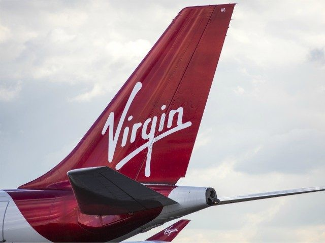 LONDON, ENGLAND - OCTOBER 11: A Virgin Airways aircraft at Heathrow Airport on October 11, 2016 in London, England. The UK government has said it will announce a decision on airport expansion soon. Proposals include either a third runway at Heathrow, an extension of a runway at the airport or …