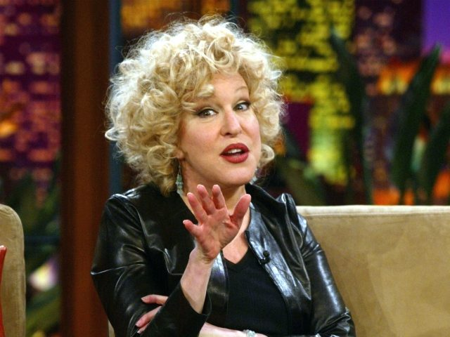 """BURBANK, CA - NOVEMBER 25: Actress Bette Midler appears on """"The Tonight Show with Jay Leno"""" held on November 25, 2003 at the NBC Studios, in Burbank, California. (Photo by Kevin Winter/Getty Images)"""
