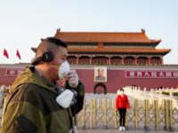 BEIJING, CHINA - MARCH 16: A Chinese man wears a protective mask as he visit Tiananmen Gate on March 16, 2020 in Beijing, China. Since the new coronavirus covid-19 first emerged in late December 2019, more than 170,000 cases have been recorded in 150 countries and territories, killing 6,500 people. …
