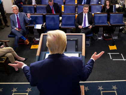 President Donald Trump speaks about the coronavirus, with Dr. Deborah Birx, White House coronavirus response coordinator, at right, in the James Brady Press Briefing Room of the White House, Tuesday, March 31, 2020, in Washington. (AP Photo/Alex Brandon)