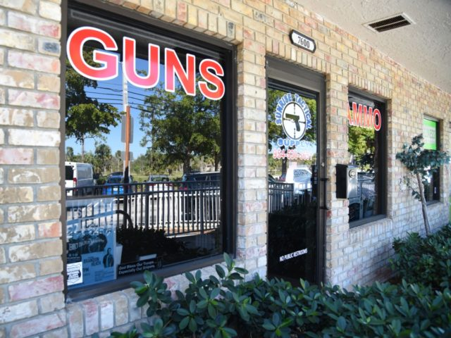 Outside view of Sunrise Tactical Supply store in Coral Springs, Florida on February 16, 2018 where school shooter Nikolas Cruz bought his AR-15 to gun down students at Marjory Stoneman High School. The heavily armed teenager who gunned down students and adults at a Florida high school was charged Thursday …