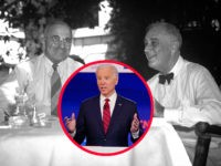 Vice President Joe Biden, participates in a Democratic presidential primary debate with Sen. Bernie Sanders, I-Vt., at CNN Studios, Sunday, March 15, 2020, in Washington. (AP Photo/Evan Vucci) President Franklin D. Roosevelt, right, sitting with Harry S. Truman at an outdoor lunch table on August 18, 1944. (AP Photo/stf)