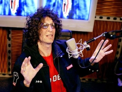 NEW YORK - JANUARY 9: Radio talk show host Howard Stern debuts his show on Sirius Satellite Radio January 09, 2006 at the network's studios at Rockefeller Center in New York City. (Photo by Getty Images)