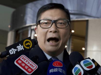 Hong Kong police chief, Chris Tang (Ng Han Guan/AP)