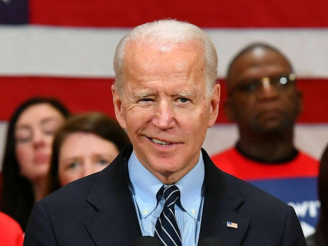 Democratic presidential candidate Joe Biden speaks during a campaign stop at Driving Park Community Center in Columbus, Ohio on March 10, 2020. (Photo by MANDEL NGAN / AFP) (Photo by MANDEL NGAN/AFP via Getty Images)