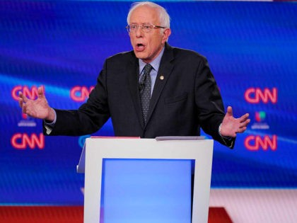 Sen. Bernie Sanders, I-Vt., participates in a Democratic presidential primary debate with former Vice President Joe Biden at CNN Studios, Sunday, March 15, 2020, in Washington. (AP Photo/Evan Vucci)
