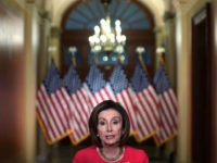 WASHINGTON, DC - MARCH 23: U.S. Speaker of the House Rep. Nancy Pelosi (D-CA) delivers a statement at the hallway of the Speaker's Balcony at the U.S. Capitol March 23, 2020 in Washington, DC. Speaker Pelosi spoke on the 10th anniversary of the Affordable Care Act and introduced the Take …