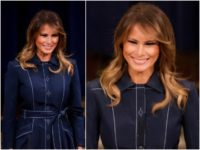 First Lady Melania Trump was graceful as she spoke at …