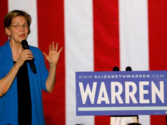Democratic presidential hopeful Massachusetts Senator Elizabeth Warren speaks during a campaign rally at Eastern Market in Detroit, Michigan, on March 3, 2020. - Fourteen states and American Samoa are holding presidential primary elections, with over 1400 delegates at stake. (Photo by JEFF KOWALSKY / AFP) (Photo by JEFF KOWALSKY/AFP via …