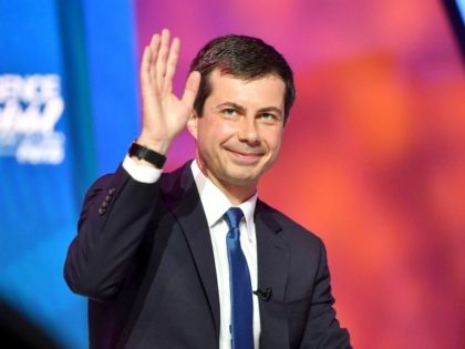 NEW ORLEANS, LOUISIANA - JULY 07: Mayor Pete Buttigieg speaks on stage at 2019 ESSENCE Festival Presented By Coca-Cola at Ernest N. Morial Convention Center on July 07, 2019 in New Orleans, Louisiana. (Photo by Paras Griffin/Getty Images for ESSENCE)