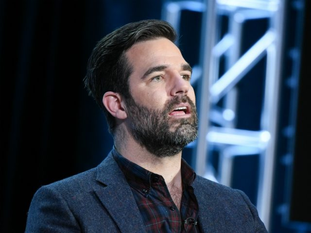 "Creator Rob Delaney participates in the ""Catastrophe"" panel at the The Amazon 2016 Winter TCA on Monday, Jan. 11, 2016, in Pasadena, Calif. (Photo by Richard Shotwell/Invision/AP)"