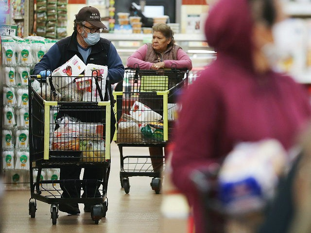 LOS ANGELES, CALIFORNIA - MARCH 19: Seniors shop for groceries during special hours open to seniors and the disabled at Northgate Gonzalez Market, a Hispanic specialty supermarket, on March 19, 2020 in Los Angeles, California. Northgate Gonzalez Market is opening all of its Southern California locations one hour early, from …