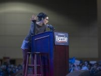 LOS ANGELES, CA - MARCH 01: Comedian Sarah Silverman speaks at a campaign rally for Presidential candidate Sen. Bernie Sanders at the Los Angeles Convention Center on March 1, 2020 in Los Angeles, California. Sanders is campaigning ahead of the 2020 California Democratic primary on Super Tuesday, March 3. (Photo …