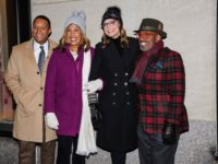 Craig Melvin, from left, Hoda Kotb, Savannah Guthrie, and Al Roker pose for a photo during the 87th annual Rockefeller Center Christmas tree lighting ceremony on Wednesday, Dec. 4, 2019, in New York. (Photo by Christopher Smith/Invision/AP)