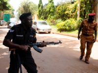 KAMPALA, UGANDA - FEBRUARY 20: Police fire live rounds both into the air and towards journalists and supporters on February 20, 2020 in Kampala, Uganda. After spending more than a year in prison, Ms. Nyanzi, an academic, activist & poet, won her appeal against a conviction for cyber harassment stemming …