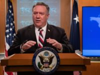 US Secretary of State Mike Pompeo speaks at a press conference at the State Department in Washington DC, on March 17, 2020. - The coronavirus outbreak has transformed the US virtually overnight from a place of boundless consumerism to one suddenly constrained by nesting and social distancing.The crisis tests all …