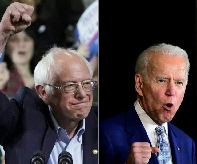 Biden, Sanders face off in debate overshadowed by virus