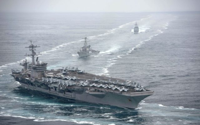 Three US sailors test positive for virus on aircraft carrier