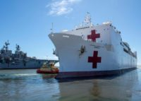 US navy hospital ship reaches virus-struck Los Angeles
