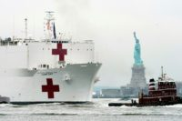 New York welcomes hospital ship as coronavirus accelerates