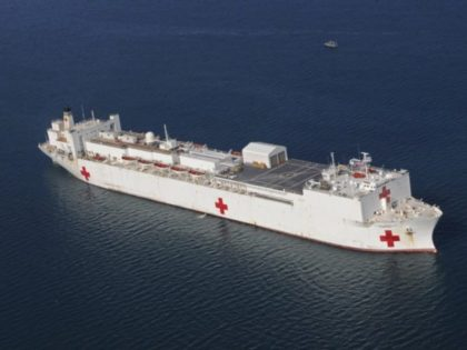 In this Jan. 20, 2010 file photo, the Military Sealift Command hospital ship USNS Comfort is anchored off the coast of Haiti to support Operation Unified Response. On Wednesday, March, 18, 2020, President Donald Trump announced he will dispatch the Comfort to the New York City Harbor to provide New …