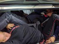 U.S. Border Patrol agents find three illegal aliens locked in the trunk of a Buick sedan in southern Arizona. (Photo: U.S. Border Patrol/Tucson Sector)