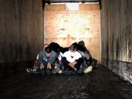 Border Patrol agents find 32 migrants locked in a tractor-trailer at the Interstate 35 immigration checkpoint in South Texas. (Photo: U.S. Border Patrol/Laredo Sector)