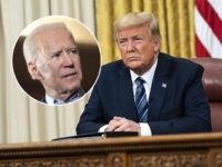 (INSET: Joe Biden) President Donald J. Trump addresses the nation from the Oval Office of the White House Wednesday evening, March 11, 2020, on the country's expanded response against the global Coronavirus outbreak. (Official White House Photo by Joyce N. Boghosian)