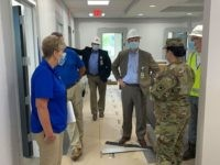 The South Carolina National Guard works with state and federal agencies as a task force to conduct engineer assessments of sites with the Conway Medical Center in Conway, South Carolina April 8, 2020 as part of the state's tiered medical response plan in support of COVID-19 response efforts. The South …