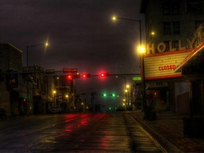 Photo of downtown Beatrice, Nebraska at night time.