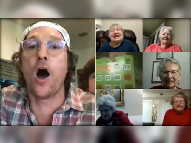 Matthew McConaughey hosts virtual bingo for residents in senior living facility