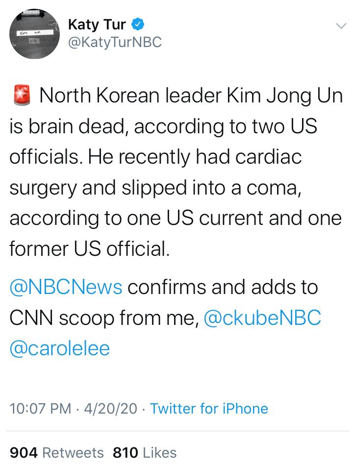 Kim Jong-un in 'Grave Danger' Following Surgery @KatyTurNBC
