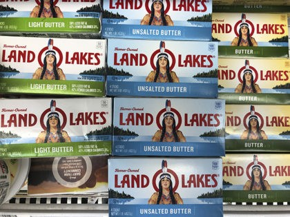 CORRECTS TO REMOVE REFERENCE TO BEING A DEAN FOOD BRAND, DEAN FOOD DOES NOT MAKE LAND O LAKES BUTTER - Packages of Land O' Lakes butter are shown at a grocery store, Tuesday, Nov. 12, 2019, in Doral, Fla. (AP Photo/Wilfredo Lee)