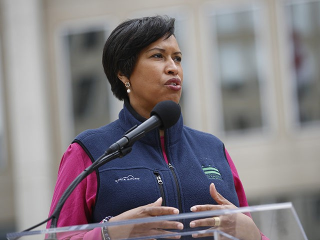 District of Columbia Mayor Muriel Bowser speaks about the District's coronavirus response at a news conference, Tuesday, March 31, 2020, in Washington. The District of Columbia has issued a stay-home order for all residents as the number of positive infections from the new coronavirus continue to rise. (AP Photo/Patrick Semansky)