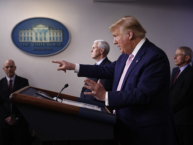 President Donald Trump speaks during a coronavirus task force briefing at the White House, Saturday, April 4, 2020, in Washington. (AP Photo/Patrick Semansky)