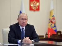 In this photo taken on Tuesday, April 7, 2020, Russian President Vladimir Putin, during a meeting at the Novo-Ogaryovo residence outside Moscow, Russia. Spring is not turning out the way Russian President Vladimir Putin might have planned it. A nationwide vote on April 22 was supposed to finalize sweeping constitutional …