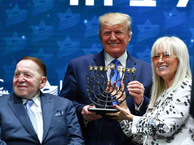 Adelson and Trump (Mandel Ngan / AFP / Getty)