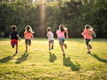 Children running together