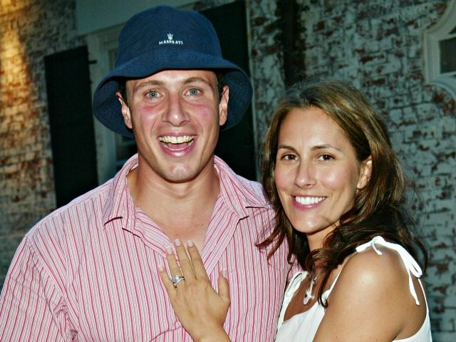 "EAST HAMPTON, NY - JULY 26: Chris Cuomo and his wife Cristina Greeven Cuomo attend a special screening of ""Ashtanga, NY"" as part of The Young Patrons of Guild Hall and Piaget's Third Annual East Hampton Benefit at Guild Hall July 26, 2003 in East Hampton, New York. (Photo by …"