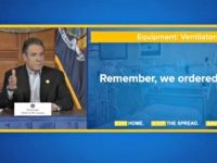 This video frame grab provided by Office of the Governor, shows New York Gov. Andrew Cuomo during a news conference in Albany, NY, Saturday, April 4, 2020. (Office of the Governor via AP)