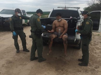 Eagle Pass Station Border Patrol agents in Texas rescued an illegal alien from the Rio Grande and promptly returned him to Mexico. (Photo: U.S. Border Patrol/Del Rio Sector)